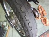 CB400F京都H様前後タイヤ交換と不具合修正 (4)