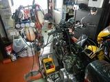 CB400F逆車408キャブレター同調調整とオイル漏れ修理210924 (1)