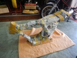 コムアキ号フレーム塗装完了組立て (1)
