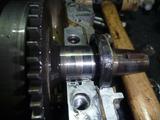 CB250N腰下分解完了 (5)