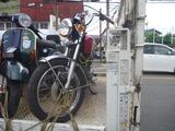 関東からの総合点検車両入庫 (1)