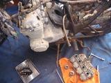 蝦夷号ベース車両エンジン分解 (2)