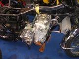 国内408カフェサイドスタンド修理エンジン搭載 (2)