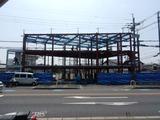 6月24日CP前空き地建設工事 鉄骨建て方 (1)
