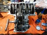 まっきーレーサー号腰下組立て180806 (4)