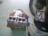 ジャイアン号エンジンブラスト塗装準備 (2)