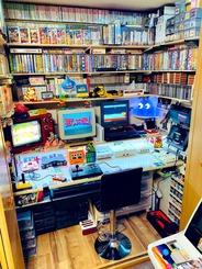 レトロゲームコレクターの部屋って何かワクワクするよね