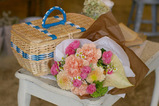 花束とカゴバック2