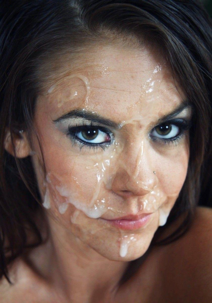 Cum Covered Face 34