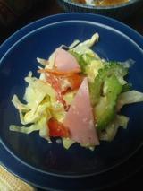 ゴーヤの塩麹サラダ