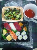 握り寿司(職場で)の夕食 822