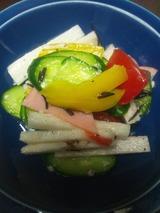 長芋、パプリカ、トマトのサラダ