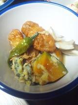 舞茸と野菜天ぷらの煮物