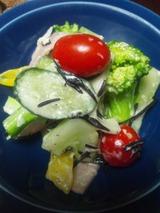 ブロッコリー、パプリカのサラダ