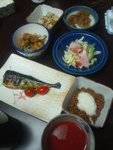 ゴーヤの塩麹サラダの夕食89