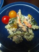 ゴーヤとカニ、ひじきのサラダ