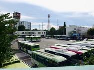 国際興業バス駐車場