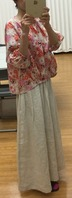 licorice × Linen Maxi-Skirt