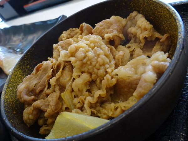 吉野家の牛鮭定食で朝ご飯