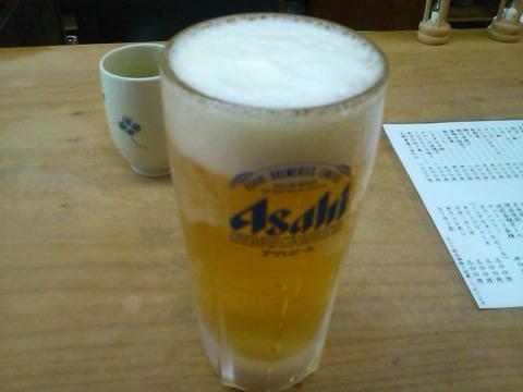 河鹿のおでんと生ビールでクールダウンした