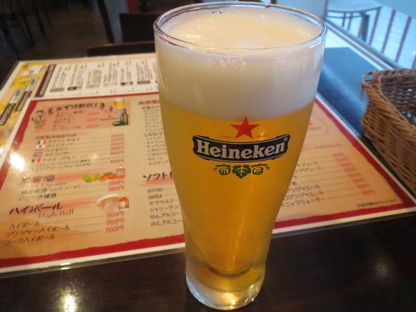 ビストロDANZAで昼間からハイネケンを飲んでみた