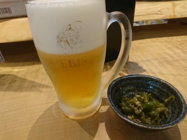 あらさんで生ビールを飲んでからでかける