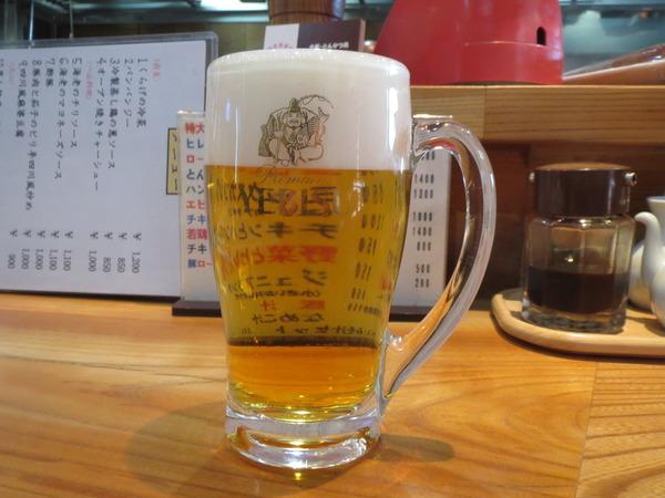 肉厚のとんかつと生ビールの相性〜伊志井〜