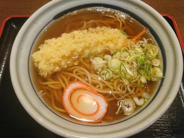 かねやで天ぷらそばを食べるのも悪くない