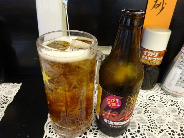 もつ焼きBAN(ばん)で昼から飲むのは黒ホッピー