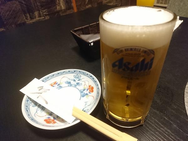 門出では肉料理でもビールがうまい