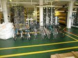自転車と空気タンク