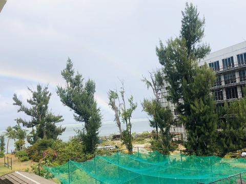 10日目朝虹Wレインボー