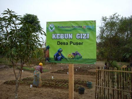 papan nama di kebun