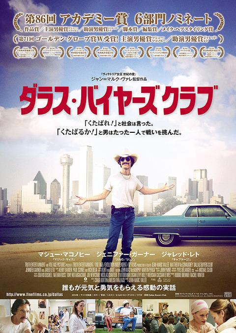 映画「ダラス・バイヤーズクラブ」