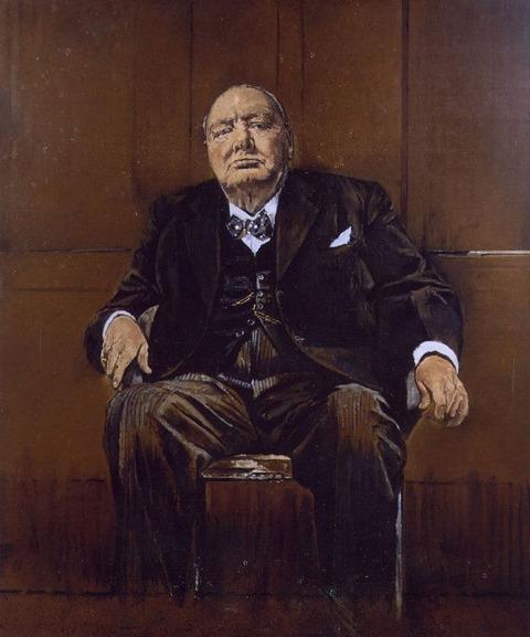 ザ・クラウン グラハム・サザーランドによるウィンストンチャーチルの肖像画「失われた傑作」