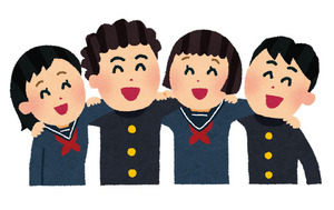 free-illustration-friends-school-irasutoya[1]