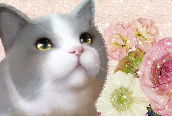 薔薇にゃんこ