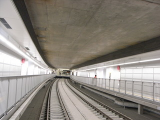 地下鉄の線路…