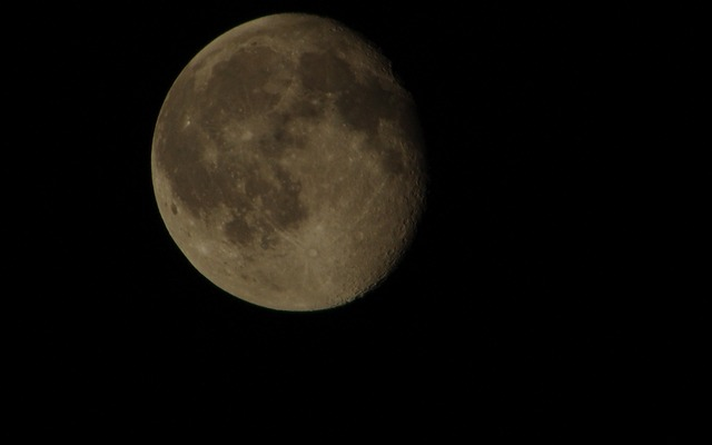 【K200D】自宅前で月と木星を撮影