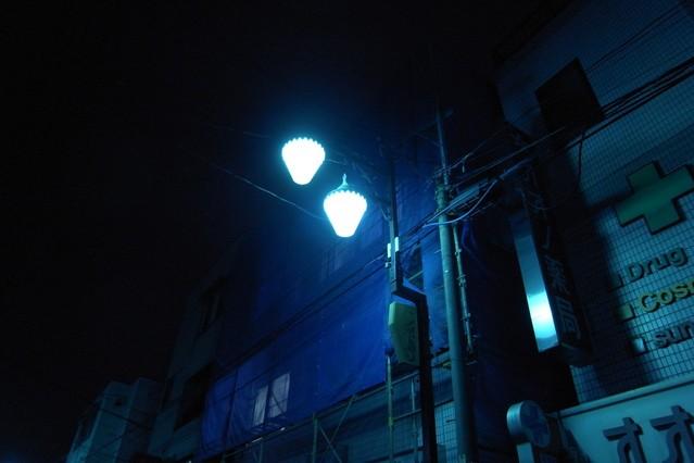 [GX200]夜の商店街街灯
