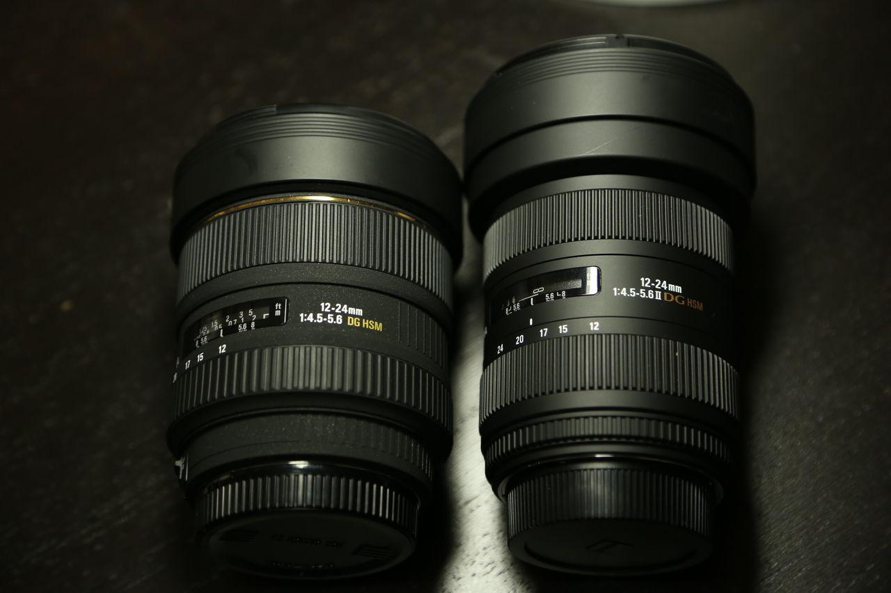 レンズ 新型から旧型へ 12 24mm F4 5 5 6 Ex Dg Aspherical Hsm カメラと星景写真の日々