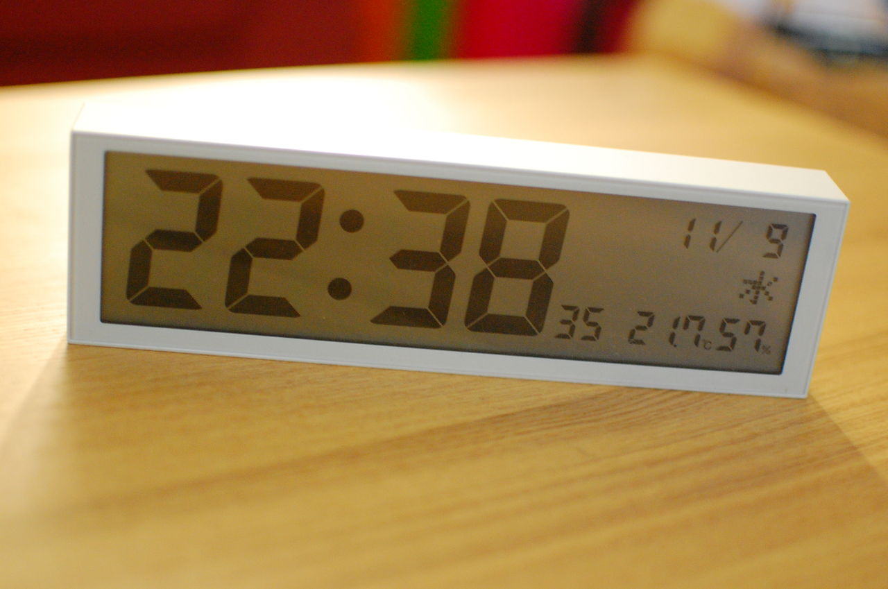 無印良品 公園の時計 ミニ 置き時計 無印 Muji