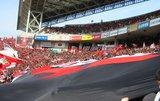 黒のデカ旗05年3月5日浦和レッズ対鹿島アントラーズ