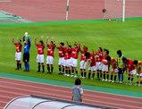レディース選手勝利後の挨拶07年7月8日浦和レッズレディース対伊賀