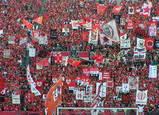 ゴール裏ゲート旗07年7月7日ナビスコカップ浦和レッズ対ガンバ大阪