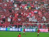 浦和レッズゴール裏ゲート旗 07年7月7日ナビスコカップ浦和レッズ対ガンバ大阪
