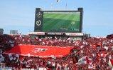 浦和のエンブレムを入れたデカ旗05年3月5日浦和レッズ対鹿島アントラーズ