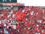 07年5月13日浦和レッズ対ガンバ大阪での浦和ゴール裏サポーター