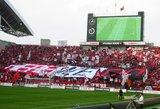 WE ARE REDSのデカ旗05年3月5日浦和レッズ対鹿島アントラーズ
