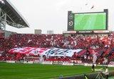 05年3月5日浦和レッズ対鹿島アントラーズ WE ARE REDSのデカ旗